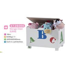 Brinquedo de madeira Brinquedo Toy Box Bench Chest Crianças Brinquedo Toy Chest Decoração Chest Storage Case