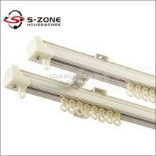 Window curtain hanging aluminum alloy straight double curtain track factory made