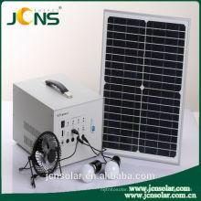 Sistema de sol solar DC 12v para uso doméstico com luz led e carregador de telefone móvel