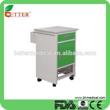 Cabinet de chevet en acier à revêtement électrique