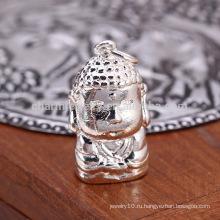 Sef063 тенденция 925 стерлингов щепка Будда очарование для браслетов подвески, DIY религиозных находки ювелирных изделий