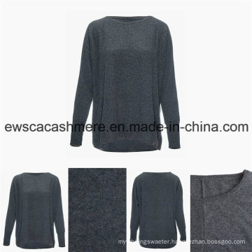 Women′s Round Neck Casual Style Top Grade Pure Cashmere Sweater