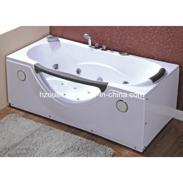 White Acrylic Sanitary Whirlpool Massage Bathtub (OL-002)