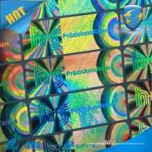 Holograma holográfico a laser Etiqueta segura, etiqueta de material de embalagem