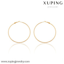 91043 Xuping Jewerly Women Simple Trendy Styles Pendientes de aro