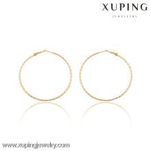 91043 Xuping Jewerly Mulheres Simples Estilos Trendy Hoop Earrings
