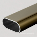 Tubo de alumínio personalizado tubo oval de extrusão de alumínio