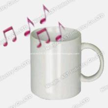 Tasse enregistrable, tasse promotionnelle, tasse en céramique, tasse à musique