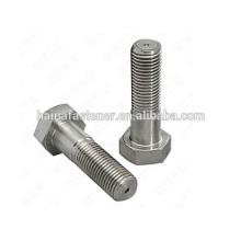 Aço inoxidável 316L meia thread parafuso sextavado (M5 --- M100)
