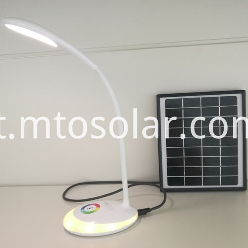 rechargeable solar led desk lamp usb