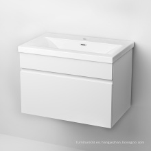 Promoción barata puerta de laca melamina mueble de baño
