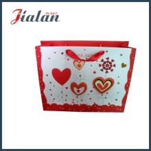 3D Heart Shape Ribbon Rope Custom Design Свадебная сумка для бумаги
