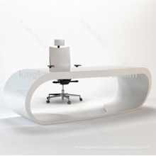 Plain black and white office desks furniture