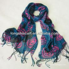 Langer Schal aus Viskose mit Quasten für Damen