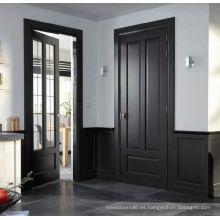 Puerta de madera MDF interior con dos dormitorios, puerta de la habitación de la cocina