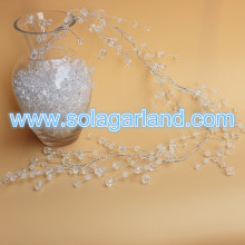 Crystal Faceted Football Beads Silver Wire Trim