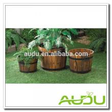 Caixas de plantão de madeira Audu, Caixotes de plantação, Plantador de barril de madeira