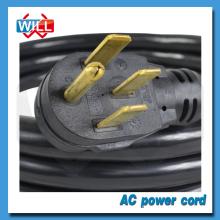 Cordon d'alimentation UL CUL 50A 125 / 250V NEMA 14-50P pour équipement industriel
