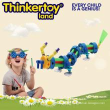 Crianças, montado, animal, brinquedo, dragão, enigma, modelo