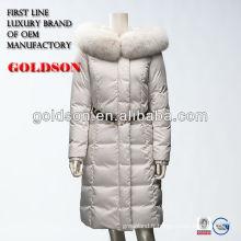 Manteau de fourrure de renard femme réelle hiver 2017 le plus récent design
