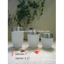 2015 New Wholesale Ceramic Porcelain Storage Canister