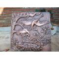 Modern home decoração artesanato de metal bronze alívio escultura de parede venda quente