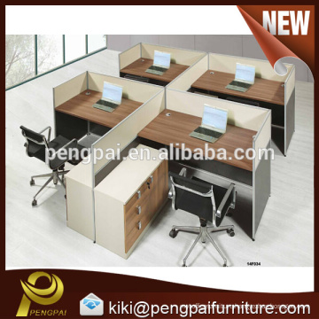 2015 new product fashion design four person workstation