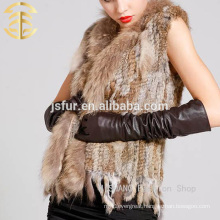 2017 Factory Wholesale Custom Raccoon And Rabbit Fur Vests From China