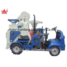 diesel tractor moving processing rice mill