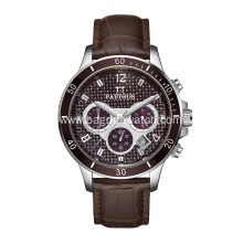 Stainless steel analog watch for man