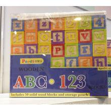 50PCS Impact Print Wooden Block Toy