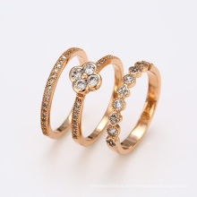 12424 moda fina joyería conjunto anillos, unisex 18k nuevo diseño anillo de dedo de oro