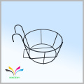 Made in China door hanging racks metal wire flower pot holder for sale