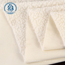 240gsm 100% polyester sherpa fleece fabric for winter warm coat jacket