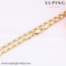 Joyería del collar del brillo de la moda de 42576 Xuping mini con el oro 18K plateado