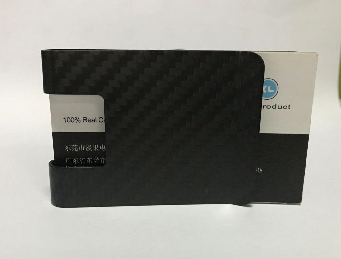 Carbon fiber money clip 1