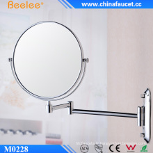 Miroir de salle de bain plié en laiton 3X Magnify