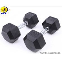 Hot Sale Hewagonal Iron Iron Coated Dumbbell