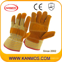 Patched Palm Industrial Safety Genuine Leather Work Gloves (11006-1)