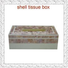 Gewebe Aufbewahrungsbox rosa Seashell Mosaikbox für Wohnkultur