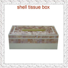 tissue storage box pink seashell mosaic box for home decor
