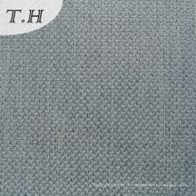 Tissu luxueux de sofa de toile de gris de polyester de 100%