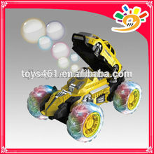 7CH Bubble Car Toy Blowing Bubbles RC Stunt Car with Colorful Light and Music