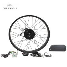 26'' x 4.0 Fat tire bike beach snow electric bike convension kits 48v 750w