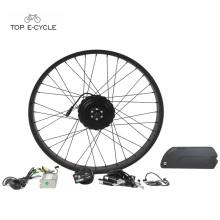 26'' x 4.0 Fat tire bike beach snow electric bike convension kits 48v 750w