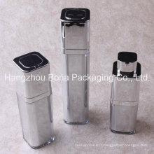 15ml 30ml 50ml bouteille acrylique sans air carrée