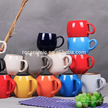 Multi color barrel shape ceramic milk mug