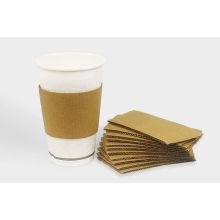 Manga de la taza impresa de papel desechable para café caliente