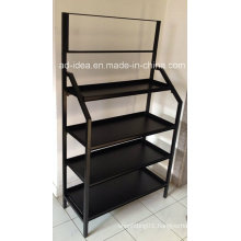 Modern Black Slatwall Display Stand/ Display for Timepiece, Cosmetics