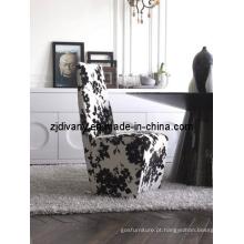 Pós-moderno de madeira tecido assento jantando a cadeira (C31)